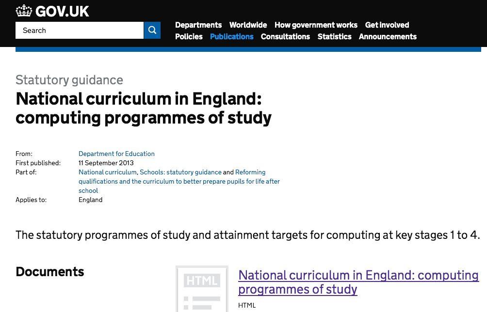 Computing curriculum